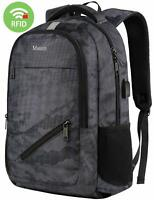 "Matein Men's Camo 15.6"" Laptop Backpack Anti-Theft USB RFID Travel School Bag"