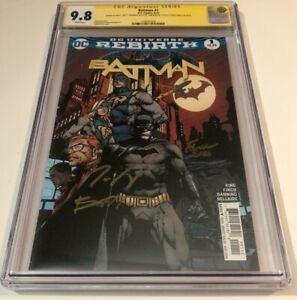 DC Comics BATMAN #1 CGC 9.8 SIGNED BY MATT BANNING TOM KING DAVID FINCH REBIRTH