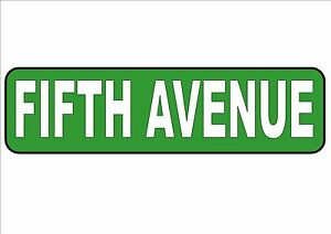 NEW YORK CITY Street Sign Reproduction Fifth Avenue Sign Novelty USA Street Sign