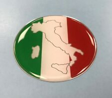 ITALIAN FLAG ROUNDAL Sticker - 50mm DIAMETER WITH HIGH GLOSS DOMED GEL - ITALY