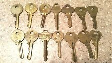 Vintage Lot Of 15 Cole National & National Brass Keys Free Shipping!