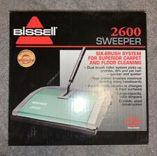 Bissell 6 Brush System Model 2600 Carpet Sweeper Green NEW in box
