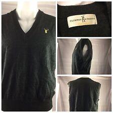 Fairway Green Golf Sweater Vest M Green 100% Wool NWOT Boone Valley YGI AA35
