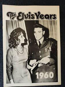 Elvis presley the Elvis years 1960 magazine  photo book