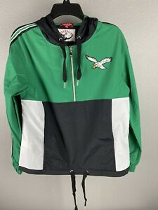 Mitchell & Ness Womens Philadelphia Eagles Hooded Jacket Size Small