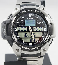 Casio SGW400HD-1AV Steel Watch Altimeter Thermometer World Time Stainless New
