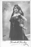POSTCARD  ACTRESSES     ELIZABETH  KIRBY   (  Signed  )