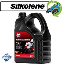 1x New Silkolene Pro 4 Fully Synthetic 10W-40 High Performance Motorcycle Oil 4L