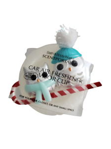 Bath Body Works Round Owls on Candy Cane Holiday Car Air Freshener Scentportable