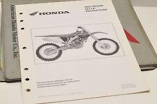 2004 CRF250R CRF 250R GENUINE Honda Factory SETUP INSTRUCTIONS PDI MANUAL S0198
