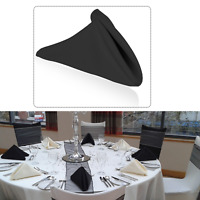 """20x PARTY TABLEWARE 22"""" Plain Polyester Cotton Table Napkin Dining Party Wedding"""
