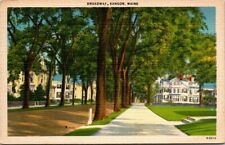 Postcard Broadway Bangor Maine