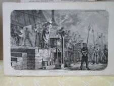 Vintage Print,GLASS MANUFACTURE,100 Years Progress US,1873
