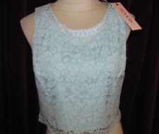Review Pearl Trim Lace Crop Size 10 NWT