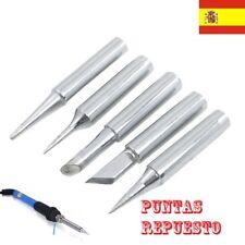 5x puntas repuesto para soldador de estaño con regulador de temperatura 193