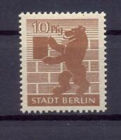 SBZ 4 Ab wbz 10 Pfg. seltene Farbe hellsiena postfrisch geprüft Ströh (xs77)