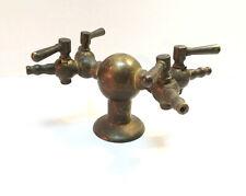 Soviet USSR Vtg Old Vintage Solid Brass Water Faucet Spigot Bathroom Kitchen Art