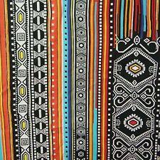 Ethnische Mehrfarbig Stoff 110 cm Breite Nähen Kleid Herstell By The Meter