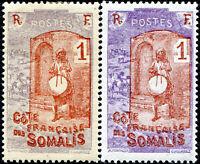 """COLONIES CÔTE DES SOMALIS N° 83 NEUF* Variété """"VIOLET-GRIS AU LIEU DE VIOLET"""""""