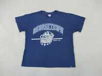 VINTAGE Georgetown Hoyas Shirt Adult Extra Large Blue Basketball Mens 90s A49*
