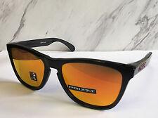 Nuevo sin Etiqueta Oakley Frogskins Gafas de Sol Negro Pulido / Prizm Rubí