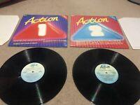 """ACTION TRAX VOL 1 & 2 Original Artists 2x LP Album 12"""" 33rpm 12"""" Record Vinyl"""