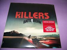 KILLERS BATTLE BORN LTD 180 GRAM DOUBLE COLORED VINYL GATEFOLD LP+EXTRAS SEALED