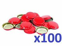 150 Red Home Brew Bottle Crown Caps 26mm Very Good Seal Quality Free Delivery