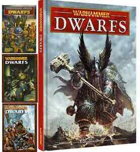 Dwarfs Army Books, Warhammer Fantasy Battles, various editions select