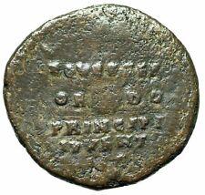 "Commodus Caesar AE As ""EQVESTER ORDO PRINICPI INVVENT SC, Shield"" RIC 1535 Rare"
