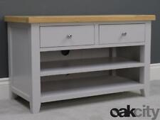 Ferndale Painted Oak Small TV Unit / Grey Standard TV Stand / Cabinet Living Roo