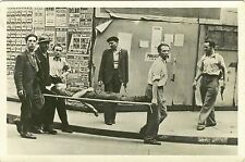 LIBERATION DE PARIS, SCENE WITH WOUNDED MAN & ca 1940's REAL PHOTO POSTCARD