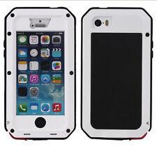 iPhone 5/5S 5C 6 & Plus Waterproof Shockproof Aluminum Gorilla Glass Metal Case