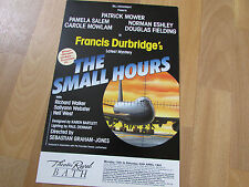 Patrick MOWER  in the Small Hours  1991 Theatre Royal  BATH  Original Poster
