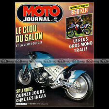 MOTO JOURNAL N°766 KAWASAKI KLR 650 YAMAHA BOXER BIKE AXIS FZ INCAS RALLYE 1986
