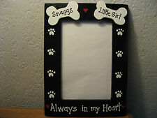 MEMORY- ALWAYS IN MY HEART 2 dogs personalized pet photo picture frame