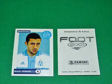 PANINI FOOT 2001 FRANCE FOOTBALL 2000-2001 HEMDANI OLYMPIQUE MARSEILLE OM