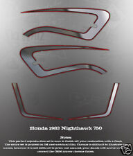 1982 HONDA NIGHTHAWK CB750 SIDE COVER TANK DECAL SET