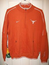 NIKE Texas Longhorns Soft Sweat Shirt Pull Over Jacket Mens Size Large NWT