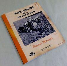 MASSEY FERGUSON NO. 31 REAR MOUNTED MOWER BAR SICKLE OWNERS OPERATORS MANUAL