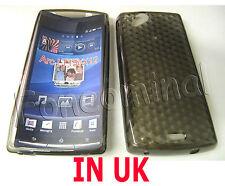 Pour Sony Ericsson X12 Xperia Arc Anzu LT15I arc s lt18i GEL Housse UK Noir