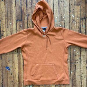 Nike Classic Embroidered Center Swoosh Orange Large Pullover Hoodie Sweatshirt