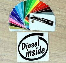 Funny Diesel Inside Sticker Vinyl Decal Adhesive Side Window Bumper Tailgate