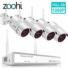 8CH, наружная беспроводная камера безопасности система 1080P Wifi Hdmi домашний NVR ночь наборы