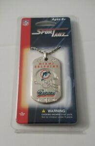 Forever Collectibles NFL SporTagz Miami Dolphins Football Dog Tag Necklace Tua!