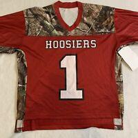 Indiana Hoosiers Football Jersey Realtree Camo Men's Size Medium Made in USA