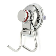 Bathroom Kitchen Stainless Steel Double Hook Strong Vacuum Suction Cup Hanger BT