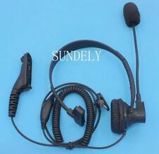 Motorola sobre cabeza Auricular Micrófono Radio DP4400 DP4401 DP3400 DP3401 Nuevo