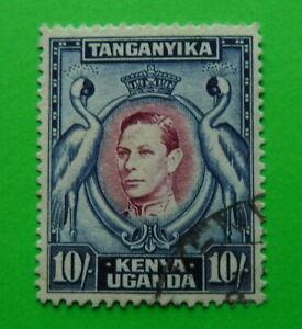 STAMPS  KGV1 Kenya Uganda & Tanganyika - 1938 Series 10s Blue & Purple
