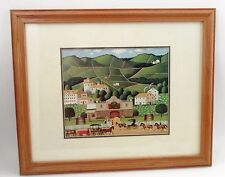 Framed Charles Wysocki Olde Country Cellars Winery Wine Country Folk Art Print